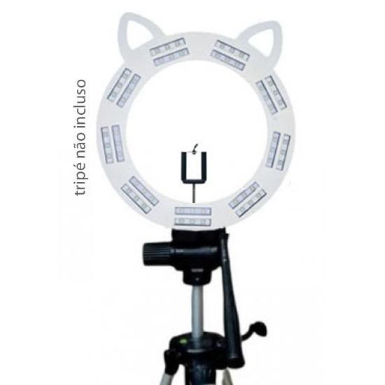 RING LIGHT GATINHO MOD. LED - BRANCO