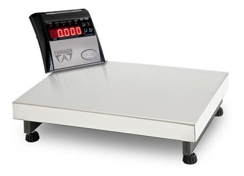 Balança Plataforma Digital Inox 40x40 50kg Bateria Ramuza