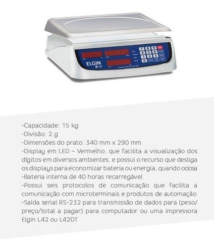 Balança Digital C/ Bateria 15kgs 2g Dp-15 Elgin Selo Inmetro