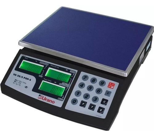 Balança Urano - Bateria - Us 20kg/2g - Pop-s - Selo Inmetro