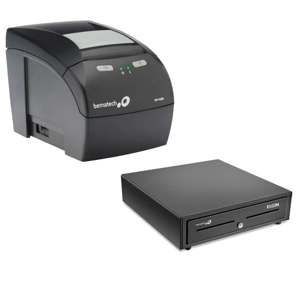 Bematech Kit automação Impressora MP-4200 + Gaveta GD-56