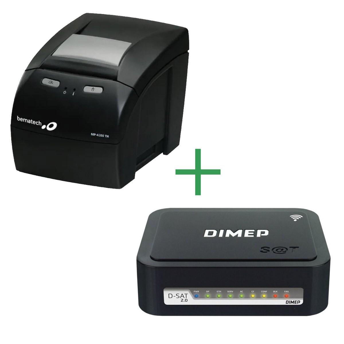 Combo SAT Fiscal D-SAT 2.0 Dimep + Impressora MP-4200 TH Bematech