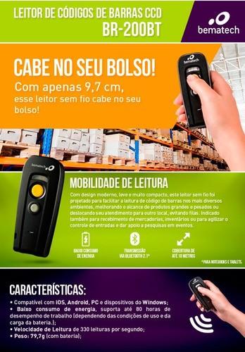 Leitor De Código De Barras Bematech Br-200bt Bluetooth *ofer