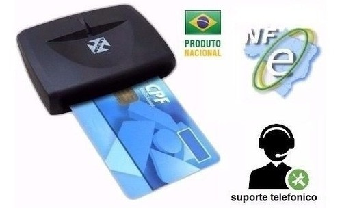 Leitora Cartão Smart Card Certificado Digital Usb Nfe Nota