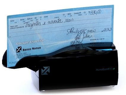NONUS Leitor semiautomático de boletos e/ou cheques HANDBANK ECO