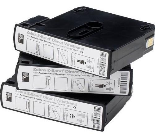 Pulseira Para Impressora Zebra Hc100 Branca Caixa 1200unidad