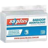 Babador Impermeável Branco SS Plus