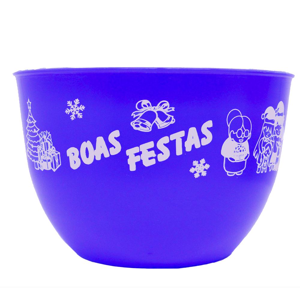 BOWL BOAS FESTAS 750ML   - Allegra Plásticos