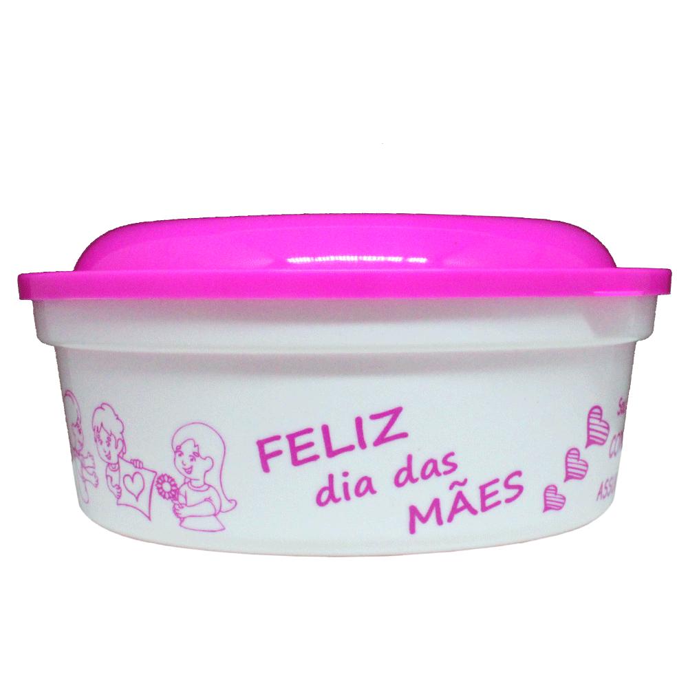 POTE REDONDO DIA DAS MÃES 800ML  - Allegra Plásticos