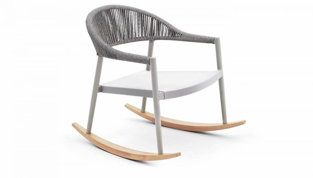 Cadeira de Balanço Esterlina em Corda Náutica