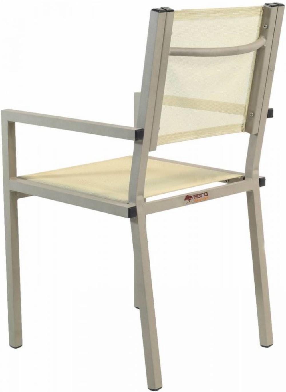 Cadeira de Tela Sling com Braço Modelo França Linha Reta