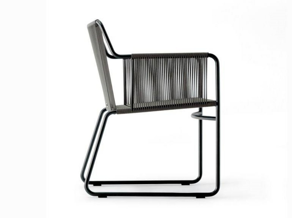 Cadeira Retrô com Braço em Corda Náutica