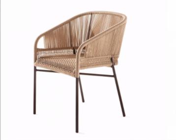 Cadeira Vallentin Design Italiano em Corda Náutica com Braço