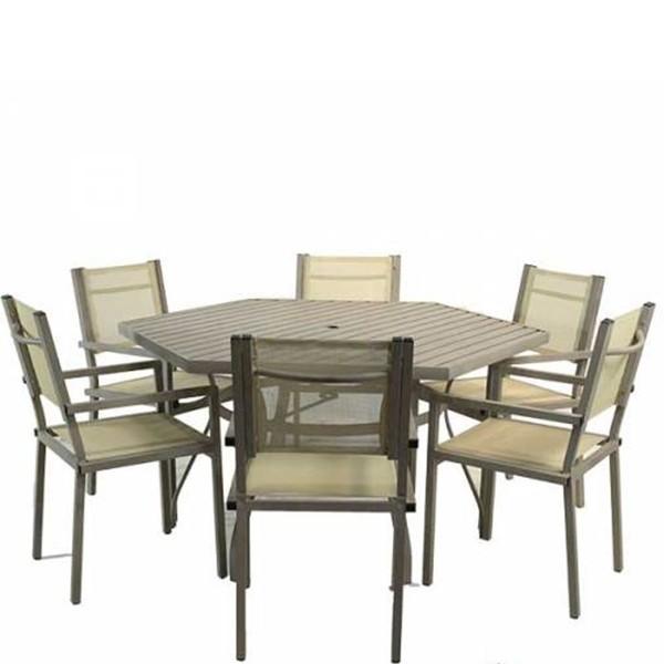 Conjunto Mesa Sestavada com 6 Cadeiras
