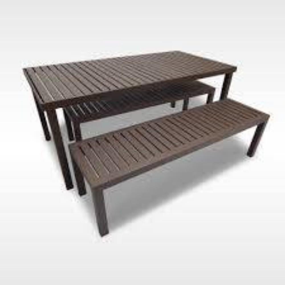 Mesa Ripada em Aluminio 1,60x 80x 75