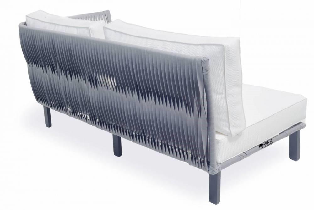 Sofá Módulo Trama Reversa em Corda Náutica 1,60x80x70