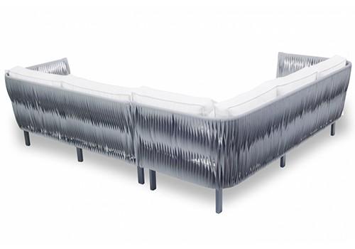 """Sofa Reverse Modular """"L"""" em Corda  Nautica"""
