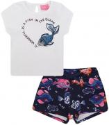Conjunto  Blusa e Short Peixinhos Momi