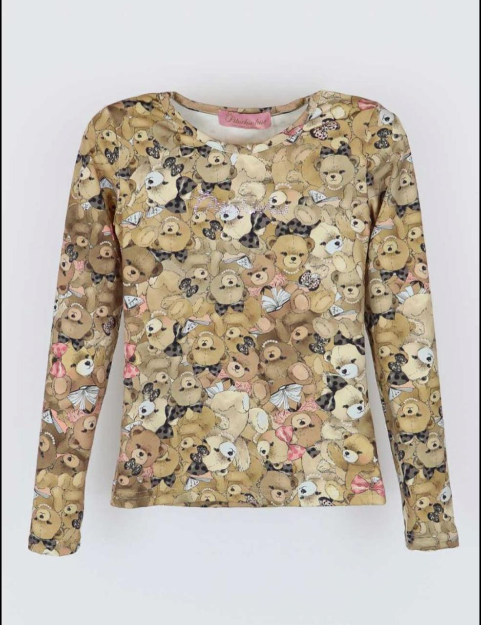 Blusa Básica ursos Pituchinhus