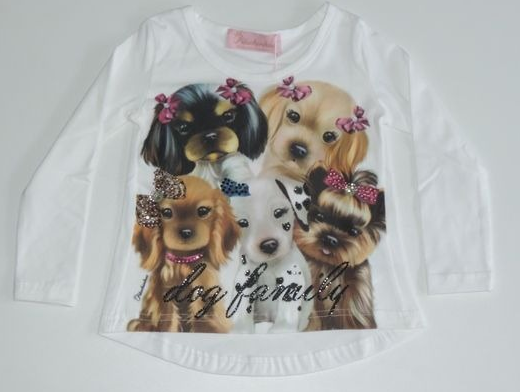 Blusa  Manga Longa Dog Family Pituchinhus