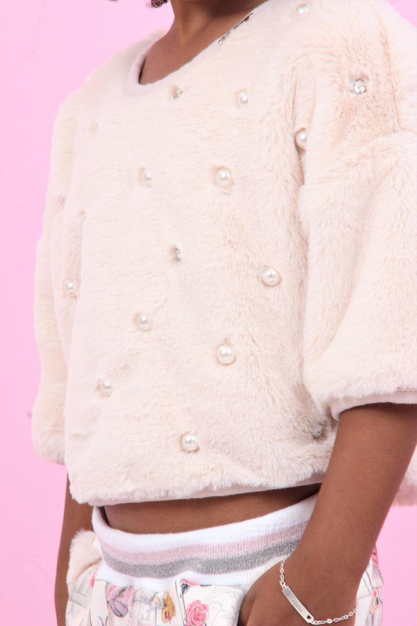 Blusa Pelo Bordados Pituchinhus