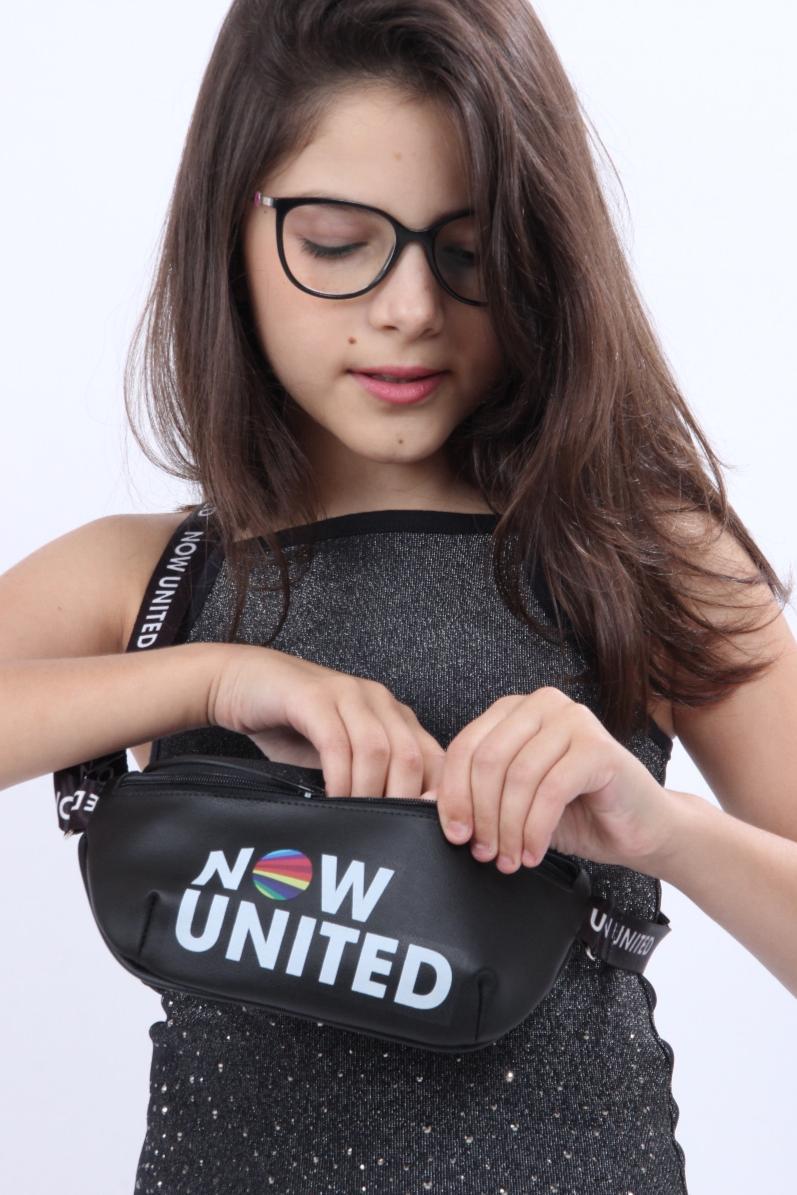 Bolsa Pochete Infantil Now United By Pampili Preta