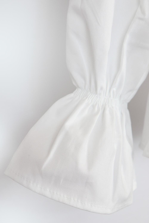 Camisa Tricoline laços e bordados Pituchinhus