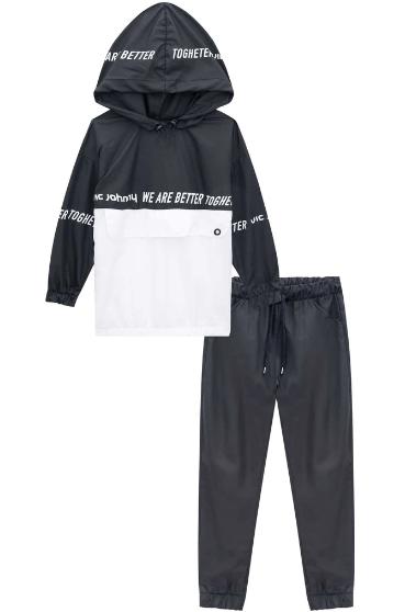 Conjunto Blusão Maxi e Calça Jogger em Nylon jOHNNY fOX