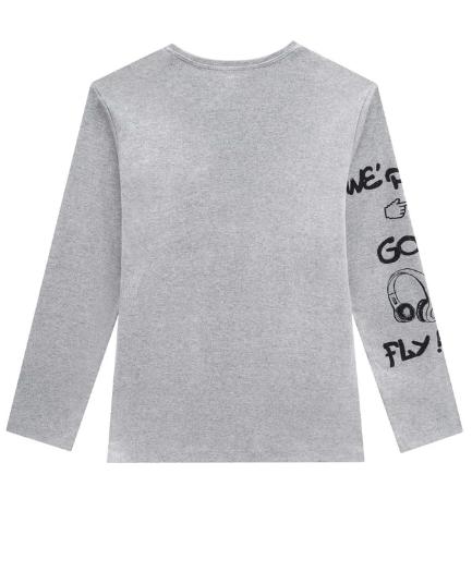 Conjunto de Pijama de Camiseta e Calça Jogger em Suedine Johnny Fox