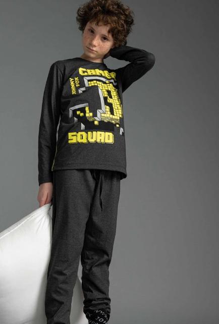 Conjunto Sleepwear de Camiseta e Calça em Meia Malha  Johnny Fox