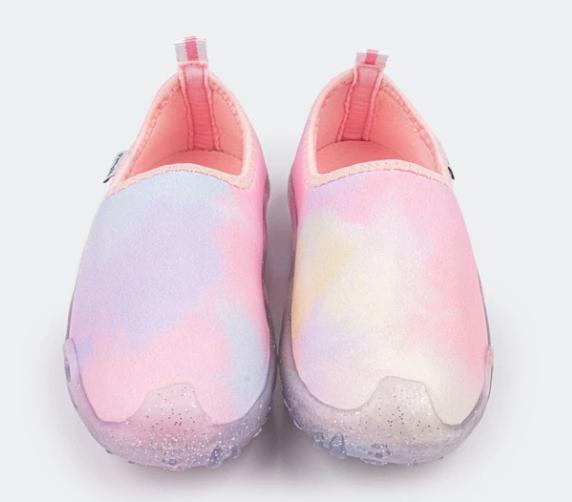 Tênis Infantil Feminino Summer Solado Glitter Tie Dye