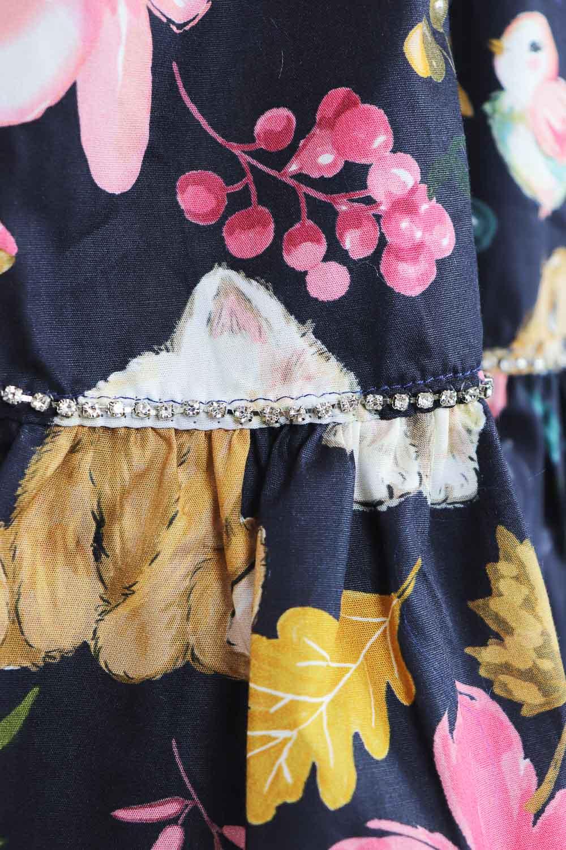 Vestido algodão Bichinhus Flores Pituchinhus