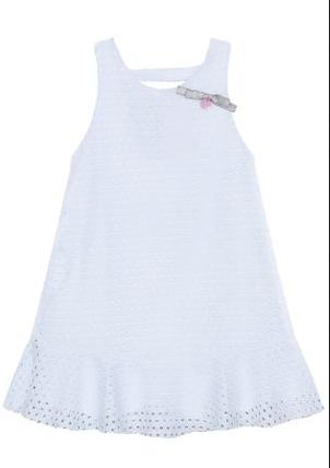 Vestido Branco Infantil Mon Sucré Renda Algodão