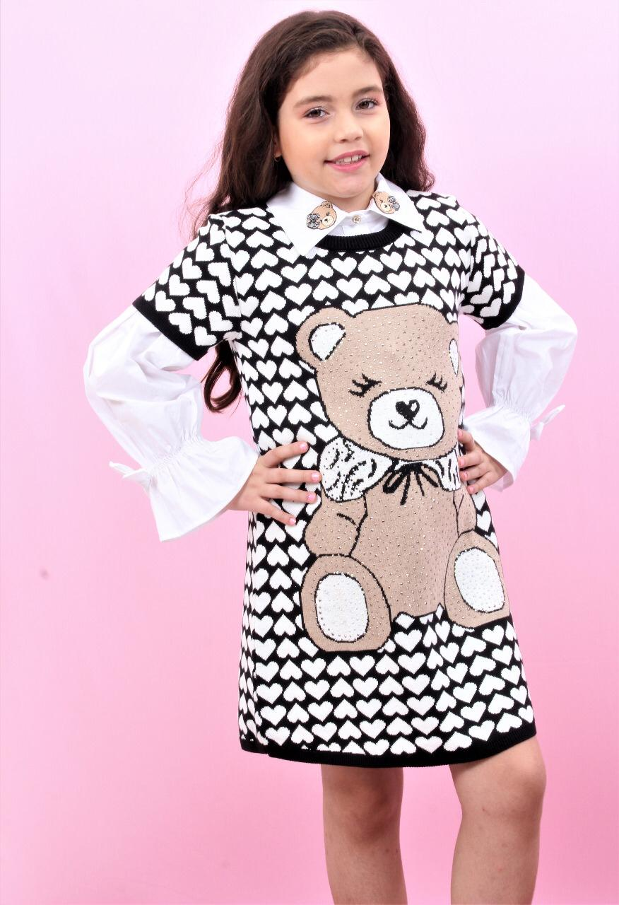 Vestido Tricô urso pituchinhus
