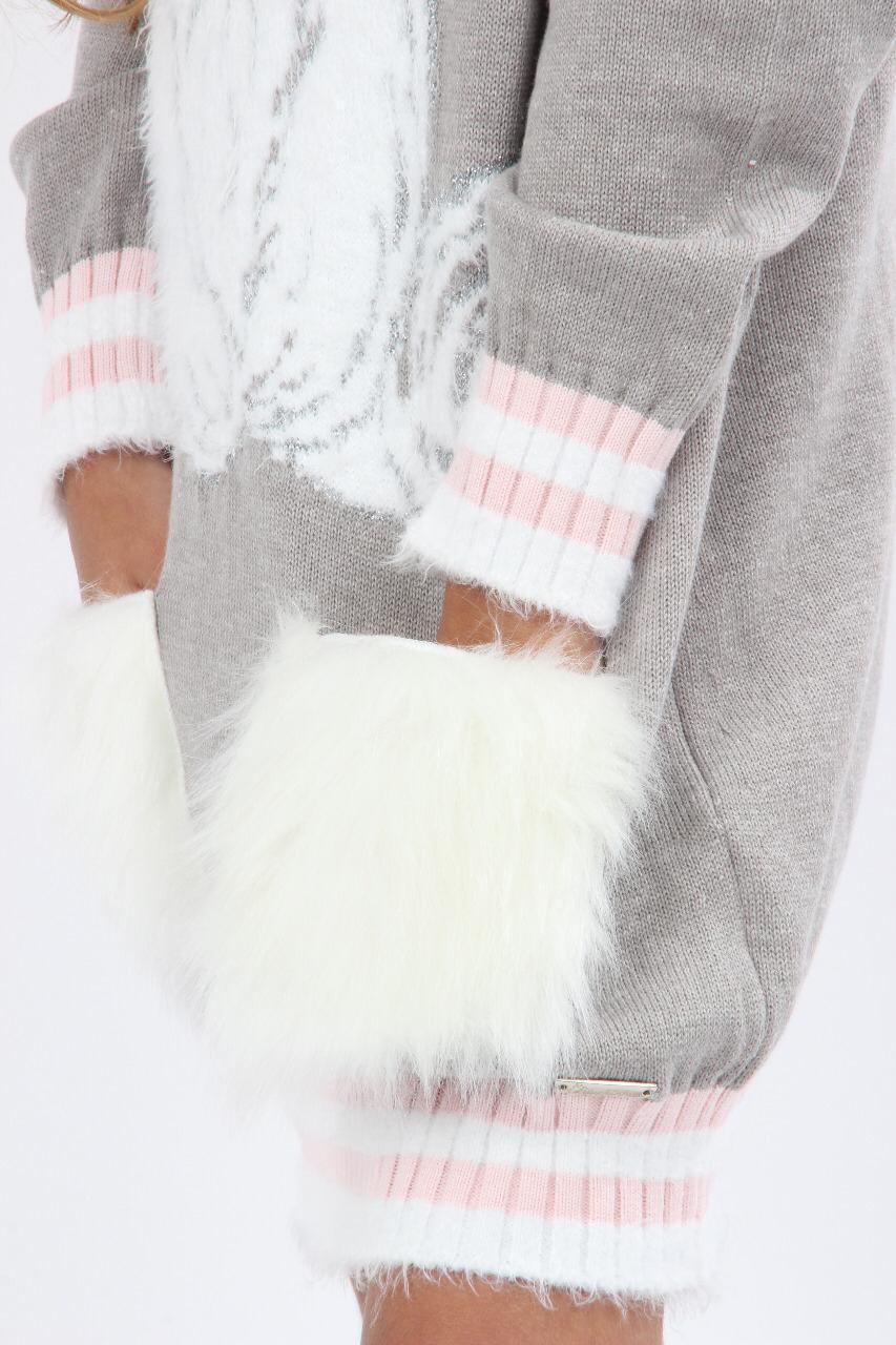 Vestido Tricot Urso Pituchinhus