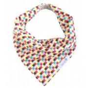 Babador bandana quadrados coloridos