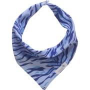 Babador bandana zebra azul