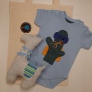 Kit para bebê body cacto Guto e lhama fofinha