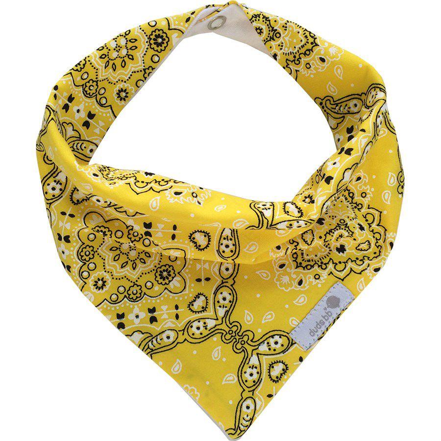 Babador bandana amarelo