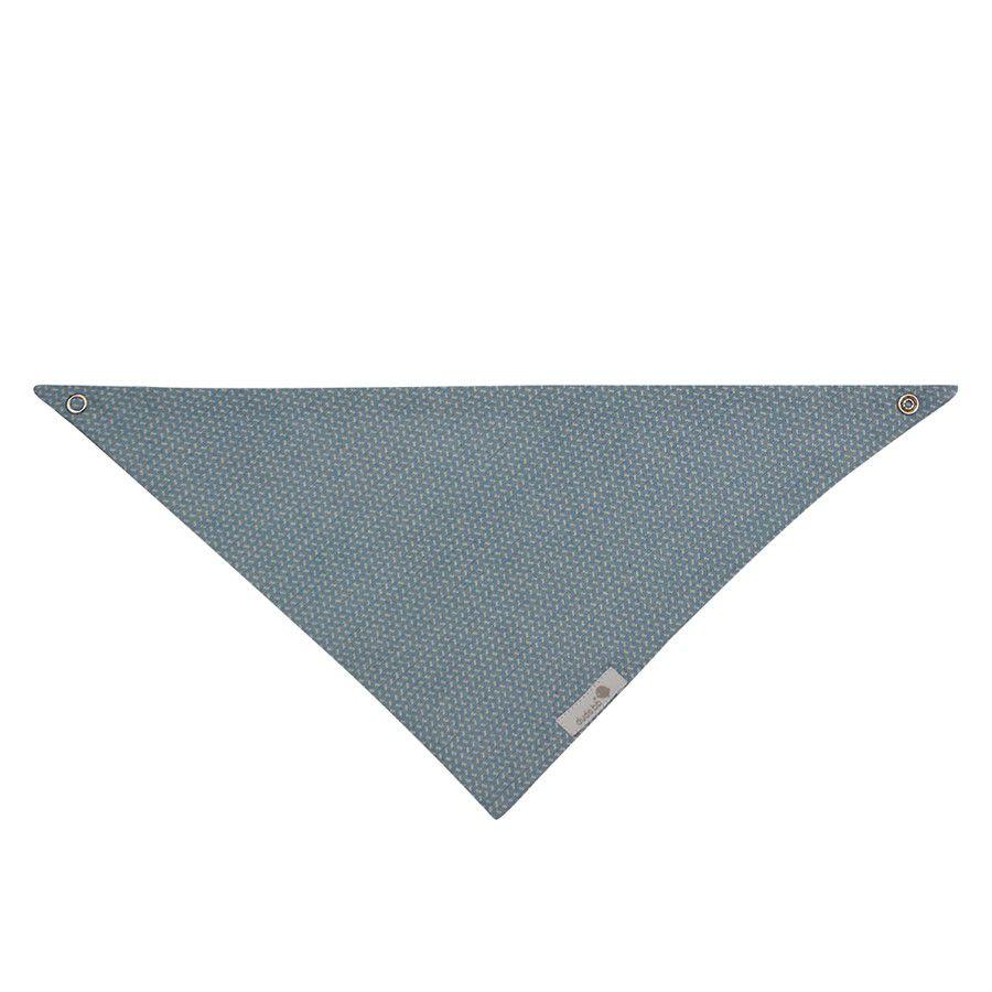 Babador bandana azul jeans claro risquinhos branco