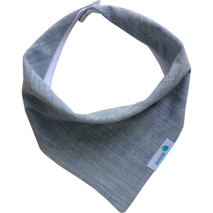 Babador bandana azul mescla