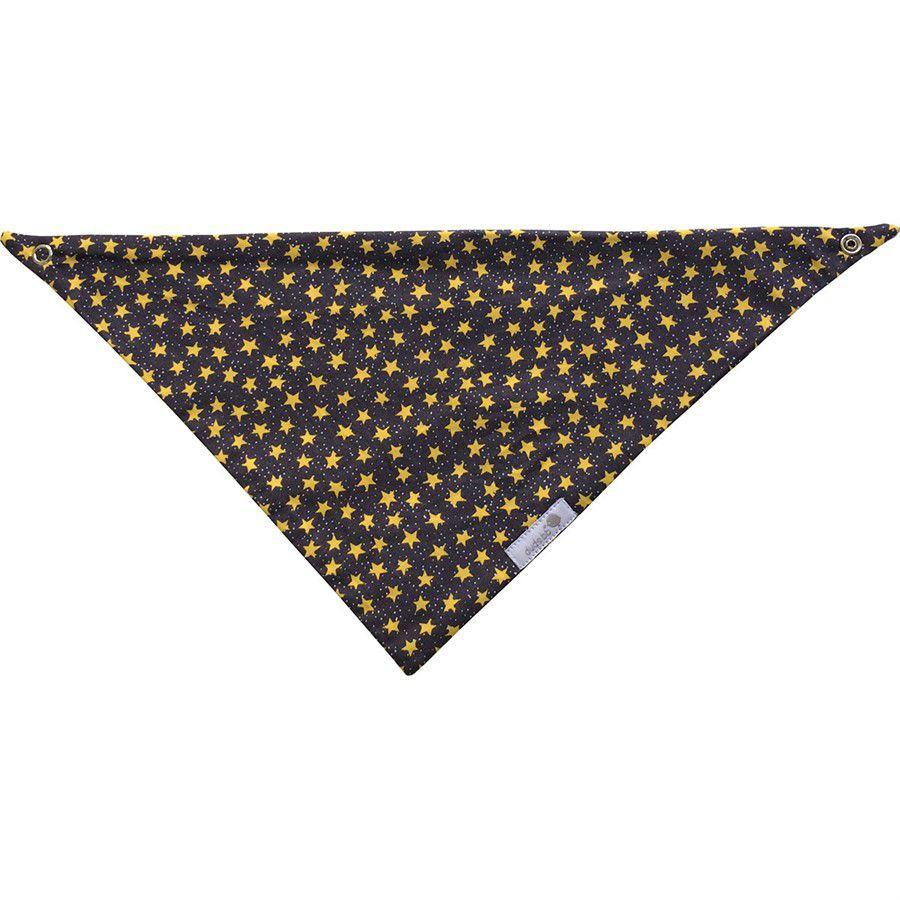 Babador bandana cinza estrela amarela