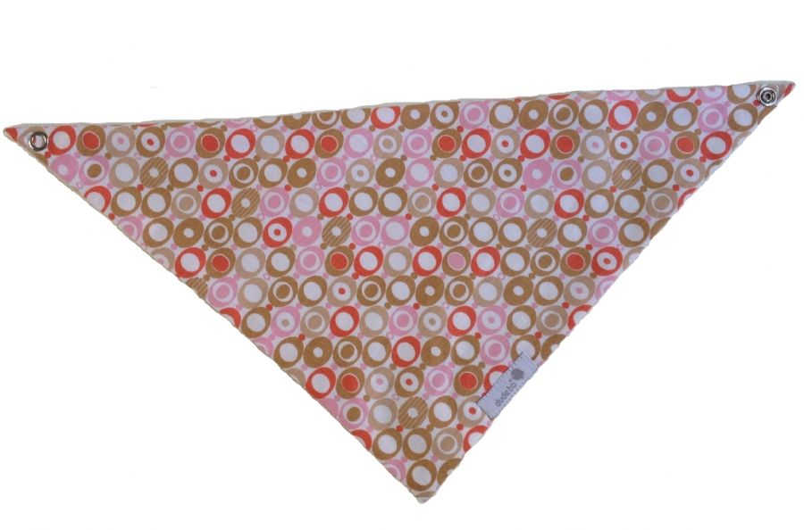 Babador bandana círculos rosa