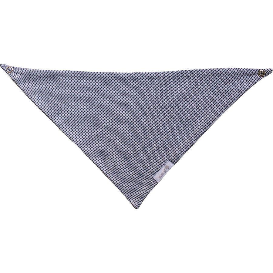 Babador bandana em malha com tracinhos preto e branco