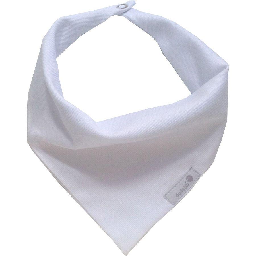Babador bandana estilo lenço fustão branco liso