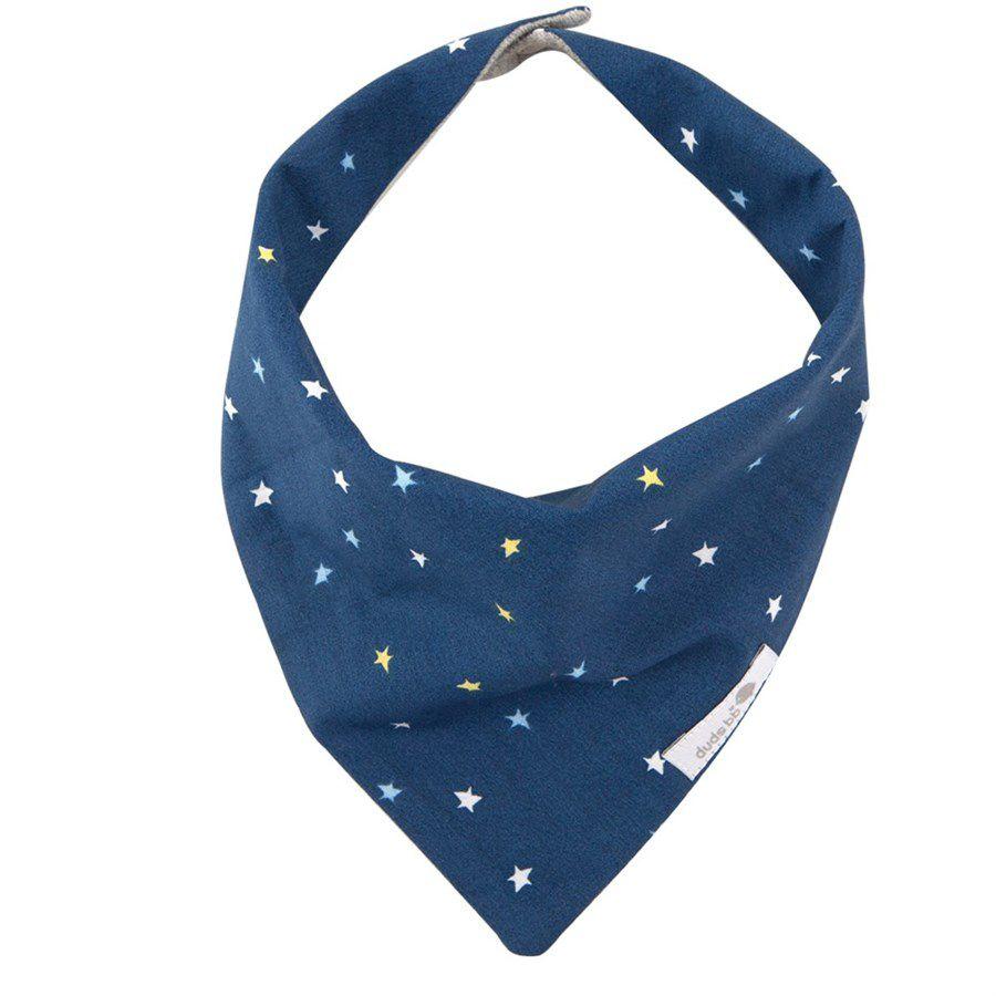 Babador bandana estrela azul