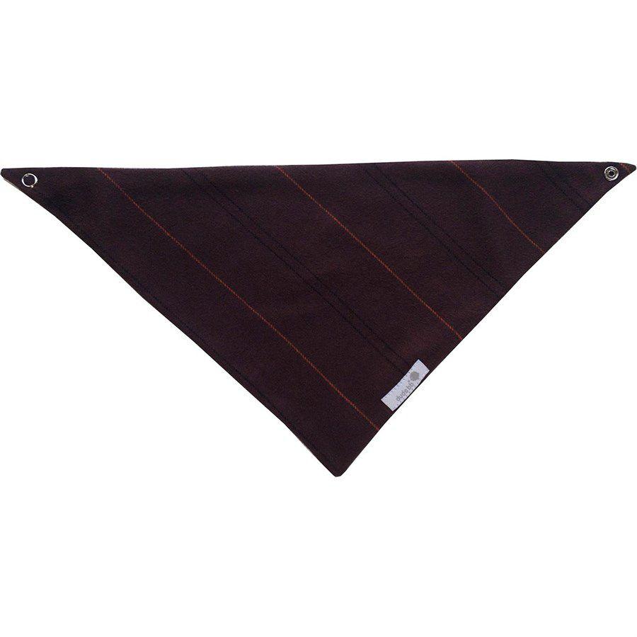 Babador bandana flanela marrom com listras