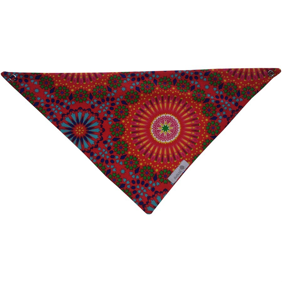Babador bandana mandala vermelha
