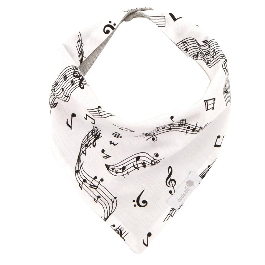 Babador bandana música branco