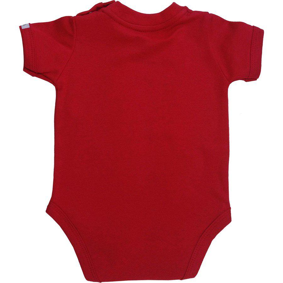 Body bebê menina gangorra banana manga curta suedine rosa
